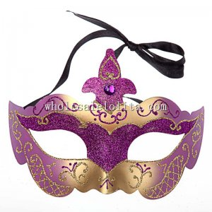 Glitter Venetian Masquerade Half Face Mask with Diamond
