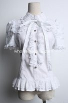 Cool White Gothic Lolita Blouse