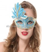 Cosplay Theme Party Half Face Cross Color Mask