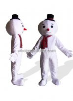 Big Head Snowman Plush Mascot Costume