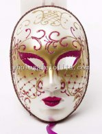 Beautiful Hallowen Full Face Masquerade Mask in Purple and Gold Color