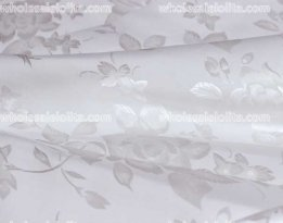 Delicate White Flower Jacquard Fabric