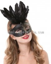 Beautiful Glitter Cosplay Halloween Black Masquerade Mask Braiding