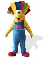 Cute Clown Plush Adult Mascot Costume
