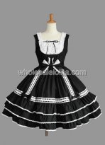 Sleeveless Multi layer Gothic Lolita Dress with Bow