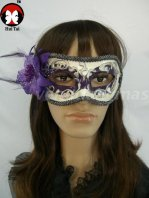 Deep Purple Flower Costume Party Mask