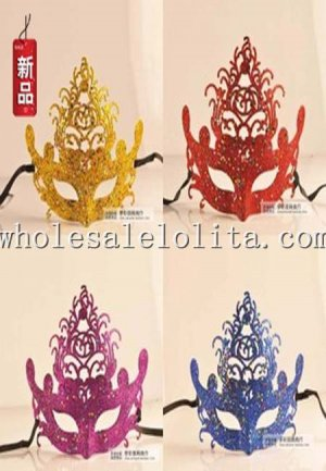 Laser Cut Beautiful Cosplay Glitter Half Face Carnival Masquerade Mask