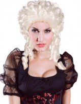 Halloween Fancy Ball Silver White Baroque Style Cosplay Wig