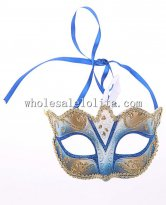 Beautiful Halloween Venetian Masquerade with Gold Braiding for Women