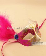 Beautiful Cosplay Glitter Feathered Half Face Carnival Masquerade Mask