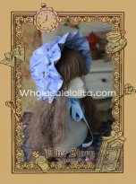 Alice Story Victorian Era Bonnet Lolta Headdress Blue/Beige 2 Colors