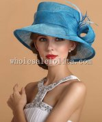 British Style Ladies Big Brim Hat Many Colors