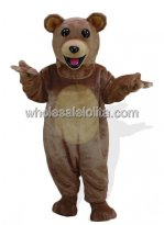 Adult Brown Plush Bear Mascot Costume