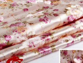 Delicate Flower Brocade Fabric 2 Colors