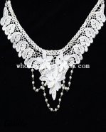 Elegant Vintage Gothic Black Lace Necklace with Gem Pendant