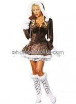 Brown Sleigh Belle Costume