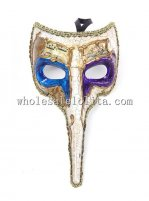 Filigree Venetian Carnival Mask with Long Nose