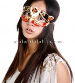 Manmade Venetian Party Masquerade Mask in Black and Red