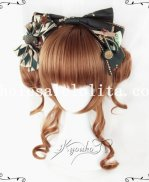 Fashion Girls Lolita Curly Cute Wig Brown