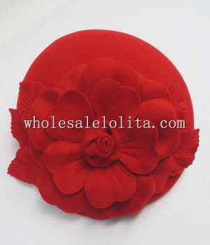 Paris Fashion New Wool Rose Autumn Winter Ladies Beret Hat