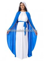 Blue and White Mary Christmas Costume for Adult