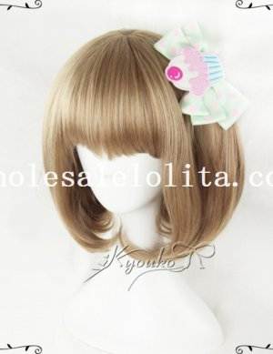 Cute Girl BOBO Cosplay Curly Hair Short Wig