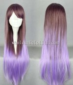 Fashion Harajuku Japanese Cosplay Lolita Wig Oblique Bangs Long Hair