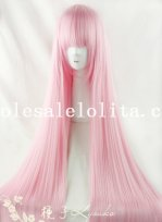 Japan Stylish Pink Long Anime Full Wig for Cosplay
