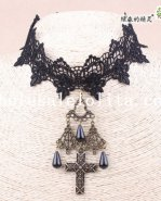 Graceful Vintage Charm Black Lace Collar Choker Hotsale Pendant Necklace