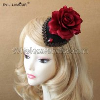 Gothic Rose Headdress Masquerade Party Accessories