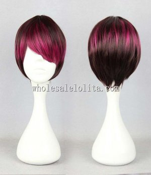 Japanese Harajuku Couples Wig Brown Red Gradient Wig