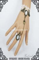 Gothic White Lace Popular Vintage Bracelet & Ring