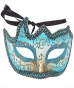 Glitter Half Face Cosplay Masquerade Mask with Lace Braiding