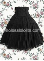 Black Lace Cotton Lolita Skirt