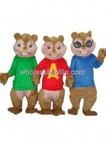 3 Chipmunk Squirrel Mascot Costumes