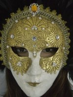 Carnival Wind Grace Gilding Set Diamond Feather Mask