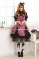 Black Lace Violet Rode Sweet Lolita Dress with Bow