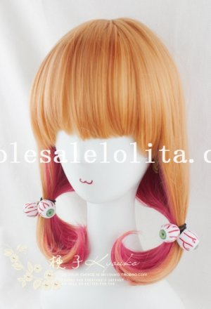 Mix-colored Cosplay Cute BOBO Curly Wig For Girl