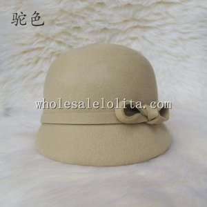 British New Arriral Wool Bow Women's Caps Horse Race Hat