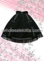 Black Sweetheart Signs Cotton Lolita Skirt