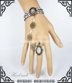 Gothic Retro White Bead Bronze DIY Bracelet & Ring