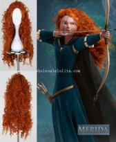 Brave Merida Cosplay Wig Halloween Costume Wig