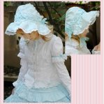Sweet Light Blue Cotton Wide-Brim Lolita Hat