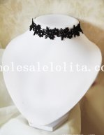 Gothic Black Collar Choker Lace Necklace for Women's Gift
