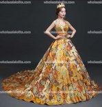 Top Sale Chinese Style Party Dragon Robe Prom Dress