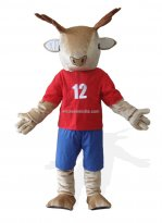 Brown Plush Deer Mascot Costume