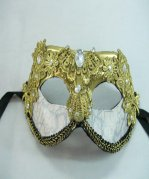 Couples Golden Lace Set Auger Masquerade Mask