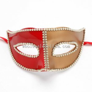 Half Face Venetian Party Balls Masquerade Masks with Bead