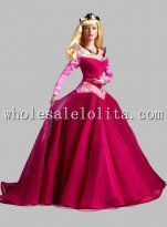 Disney Cosplay Sleeping Beauty Princess Aurora Adult Costume Ball Gown