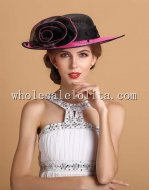 Elegant Big Flower British Style Kentucky Derby Hat